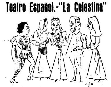 Representation of the Teatro Español, Madrid, by Luca de Tena (1940)<br />