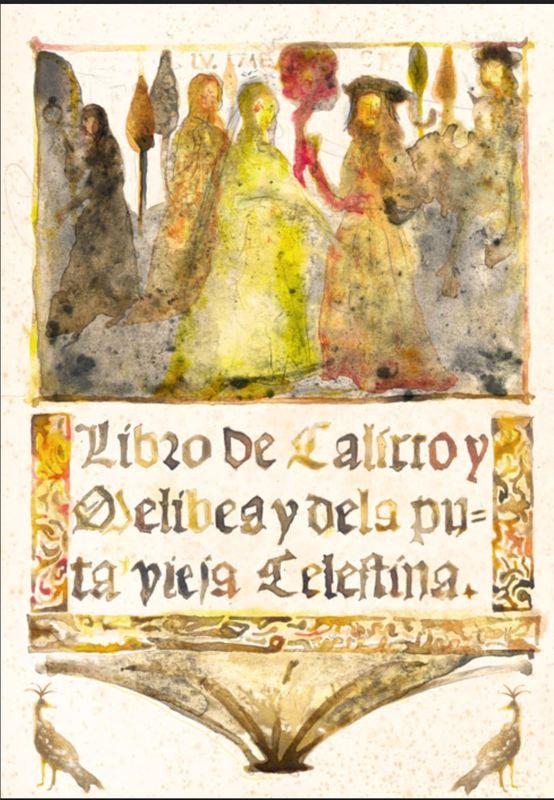 Cover in watercolor of La Celestina, by Acedo (2011 c.)