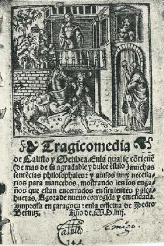 Cover of the Zaragoza edition, 1554