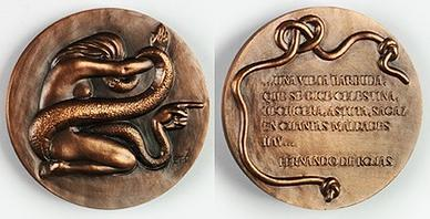Medal from the Fábrica Nacional de Moneda y Timbre, by Manuel Prieto (1957).