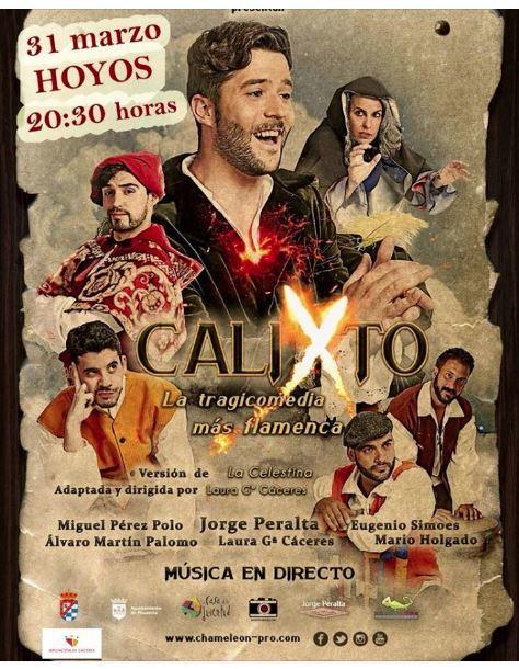 Representación del Teatro Alkázar, Plasencia, de García Cáceres (2017). Poster de la rerpesentación en Hoyos, Extremadura, España 2018
