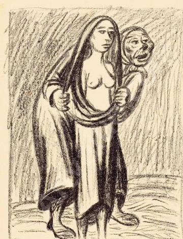 The Victim - The Matchmaker (Das Opfer - Die Kupplerin), by Barlach (1919-24).
