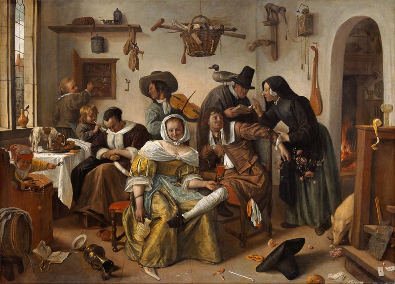 Beware of Luxury, by Steen (1663)