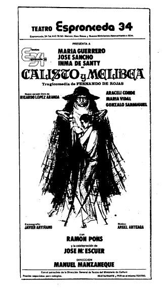 Representación del Teatro Esponcedra 34, Madrid, 1980