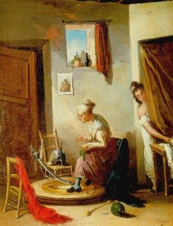 Young Woman and Celestina (Joven y Celestina), by Alenza y Nieto (XIX century)