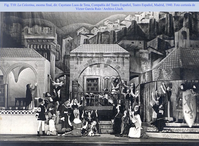 Representation of the Teatro Español, Madrid, by Luca de Tena (1940)