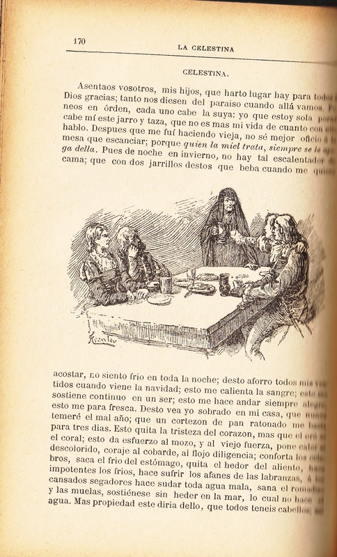First illustration of act IX from the Barcelona edition (1883)
