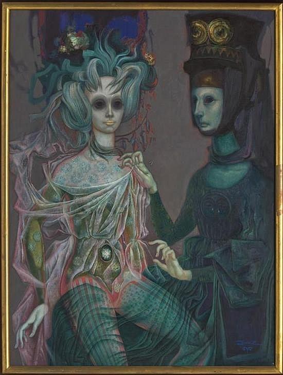 Celestina Dressing Melibea Post-Mortem (Celestina ataviando a Melibea post-mortem), by Quirós (1972)