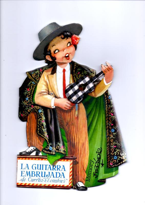 Currito the Flamenco Singer's Enchanted Guitar (La guitarra embrujada de Currito el cantaor), by Ferrándiz (1961 c.)