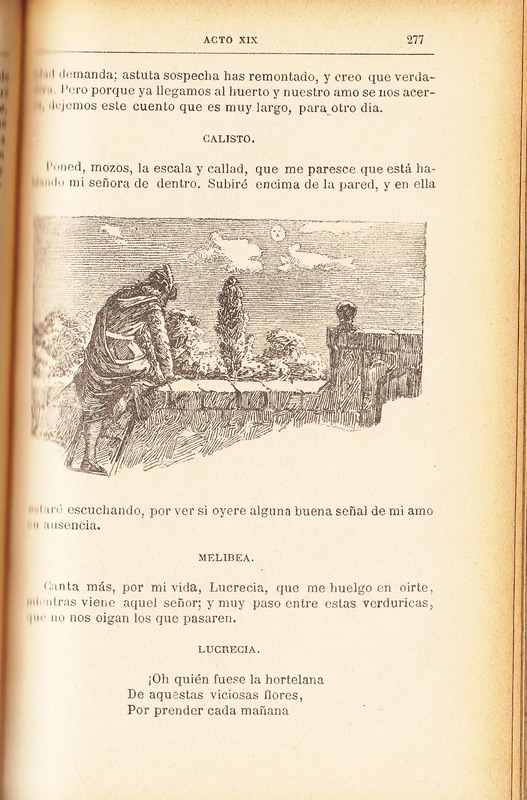 First illustration of act XIX from the Barcelona edition (1883)