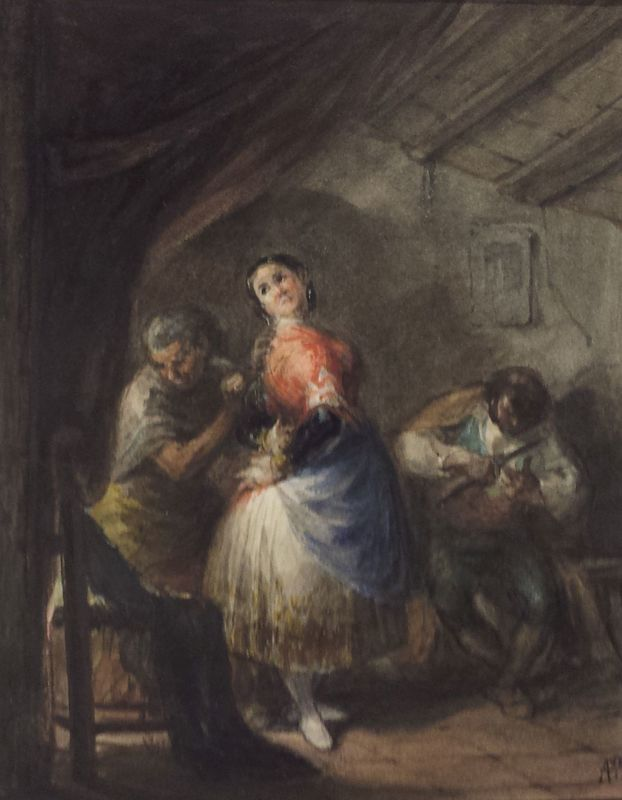 Dressing a Maja, by Alienza (1840, c.)