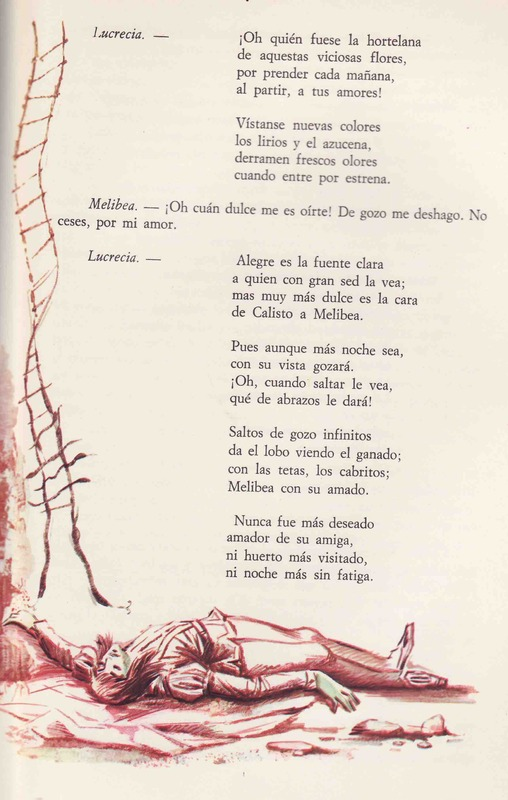 First illustration from act XIX from the Barcelona edition (1968)