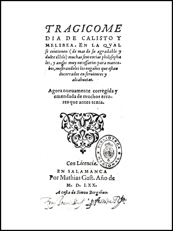 Cover of the Salamanca edition, 1570.