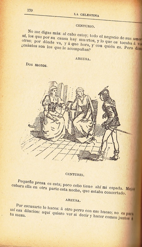 First illustration of act XVIII from the Barcelona edition (1883)