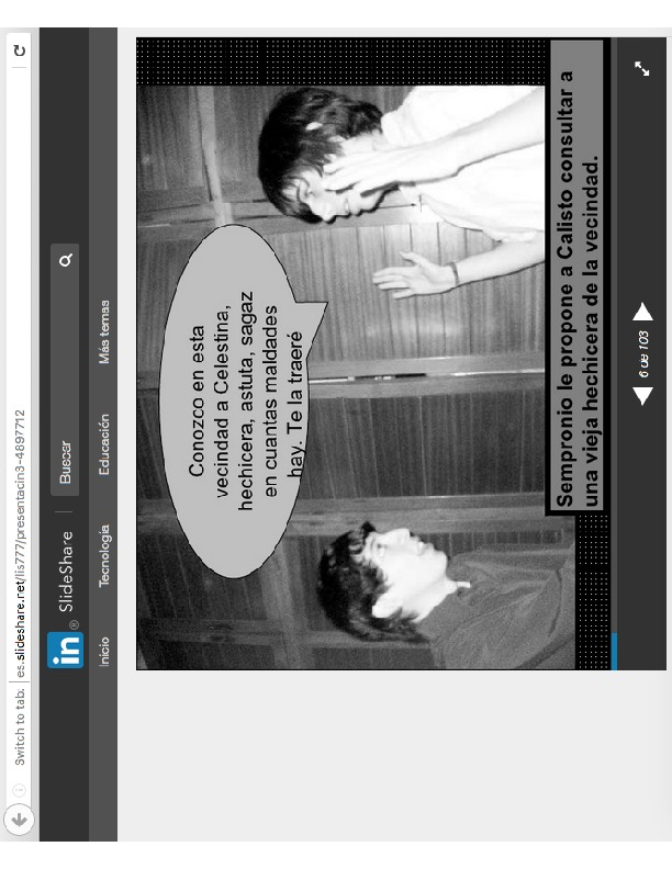 Presentation of slides of La Celestina, by Liss Rodriguez (2010)