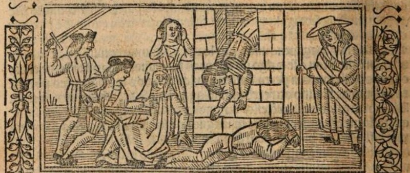 Second image of act XII of the Burgos edition (1531)