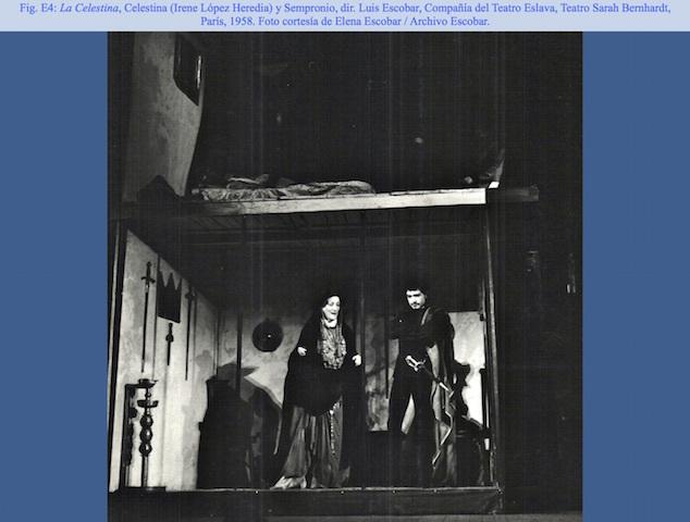 Representation of the Théatre Sarah Bernhardt, Paris, 1958