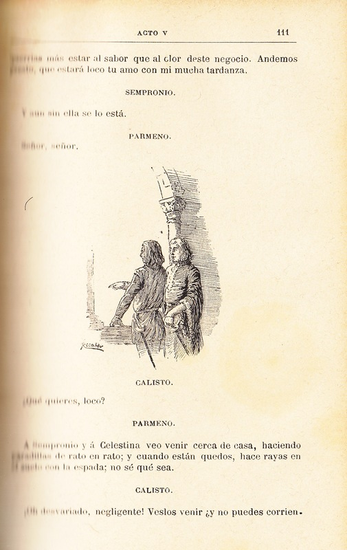 Illustration of act V from the Barcelona edition (1883)