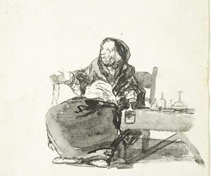 Celestina's Mother (La madre Celestina), by Goya (1819)