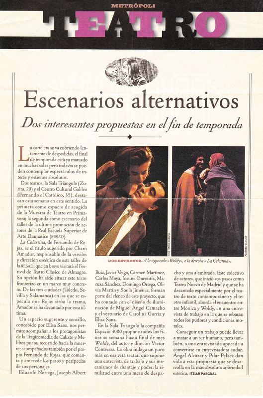 Performance by Almagro, 1996.