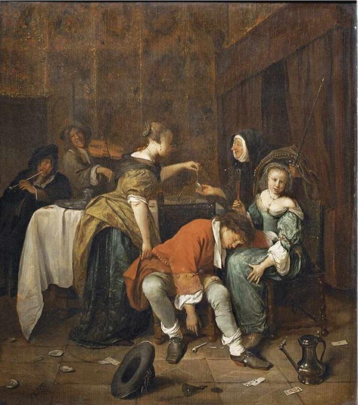 Robo en un burdel, de Jan Steen (1665)
