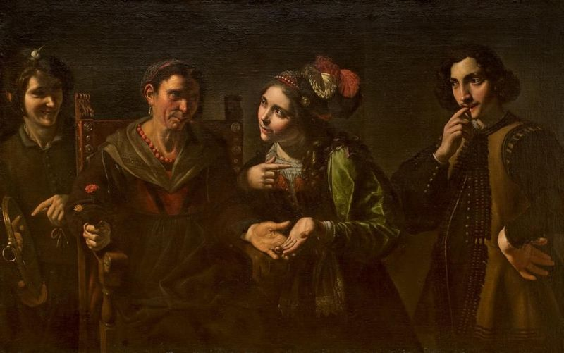 The Fortune Teller, by Paolini (1681)