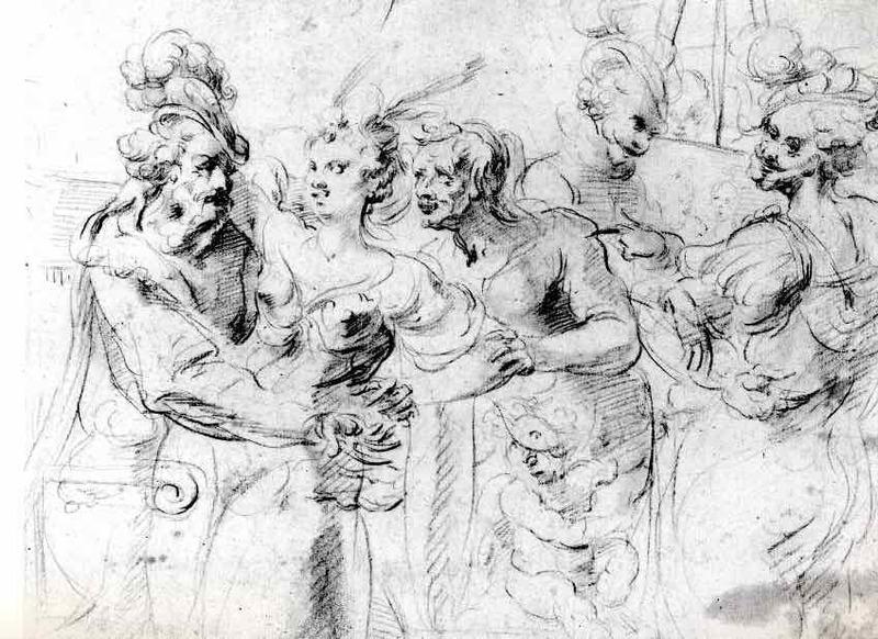 La alcahueta, de Lallemand (1620 c.)