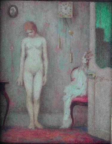 At the Matchmaker's House (Bei der Kupplerin), by Basler (XIX-XX century).