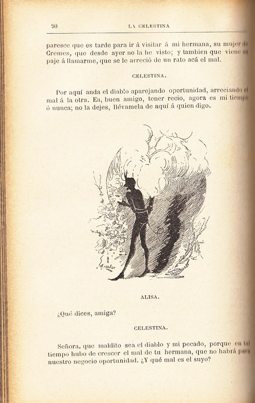 First illustration of act IV from the Barcelona edition (1883)