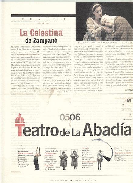 Representación del Zampanó teatro, Madrid, 2006.