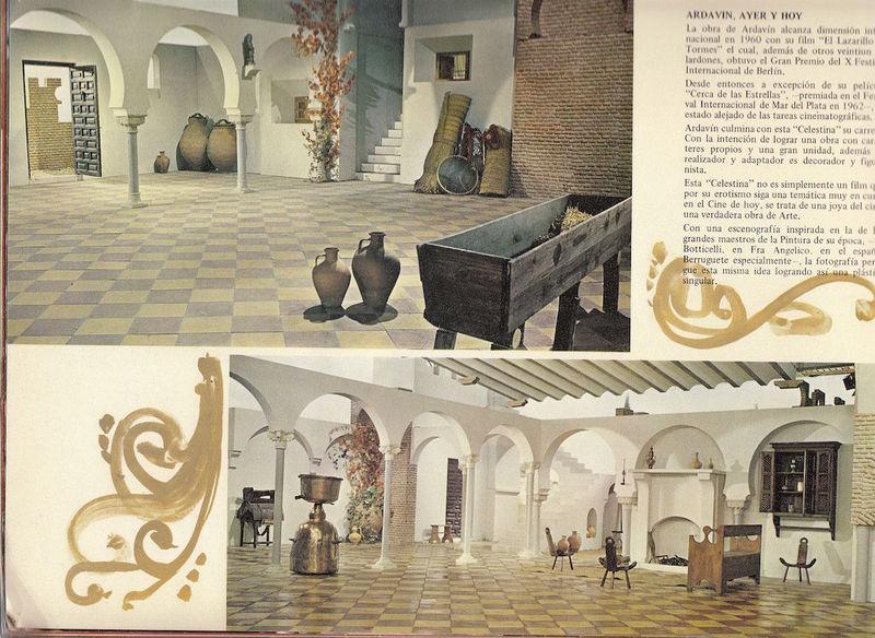 The houses in the movie La Celestina, by Ardavín
