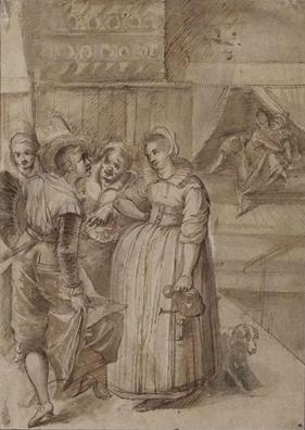 Escena en un burdel, atribuido a Francken II (Fecha desconocida)
