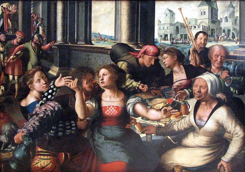 El hijo prodigo, de Hemesse, (1536)