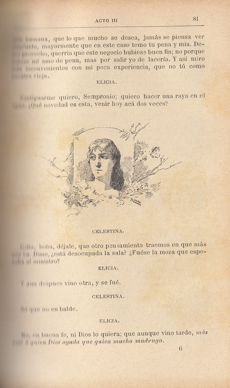 First illustration of act III from the Barcelona edition (1883)