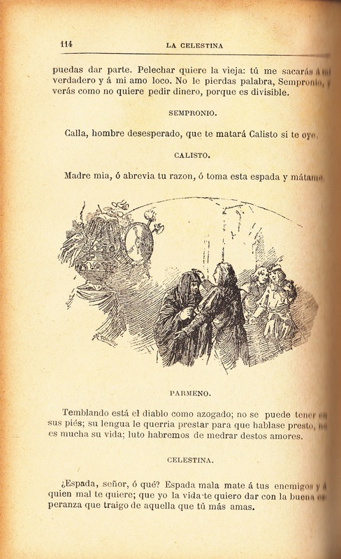 First illustration of act VI from the Barcelona edition (1883)