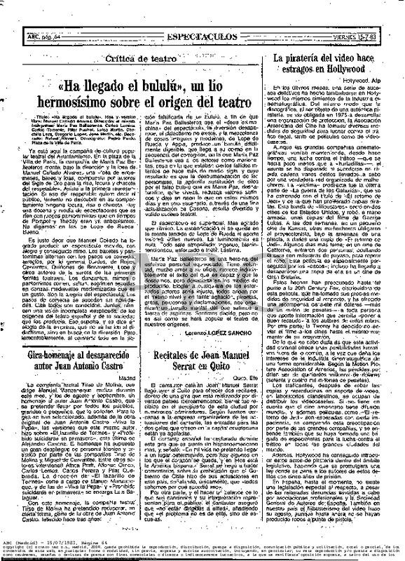 Design of a Celestina, by Richart (1980 c.)