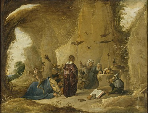 Temptation of Saint Anthony, by Teniers (1640 c.)