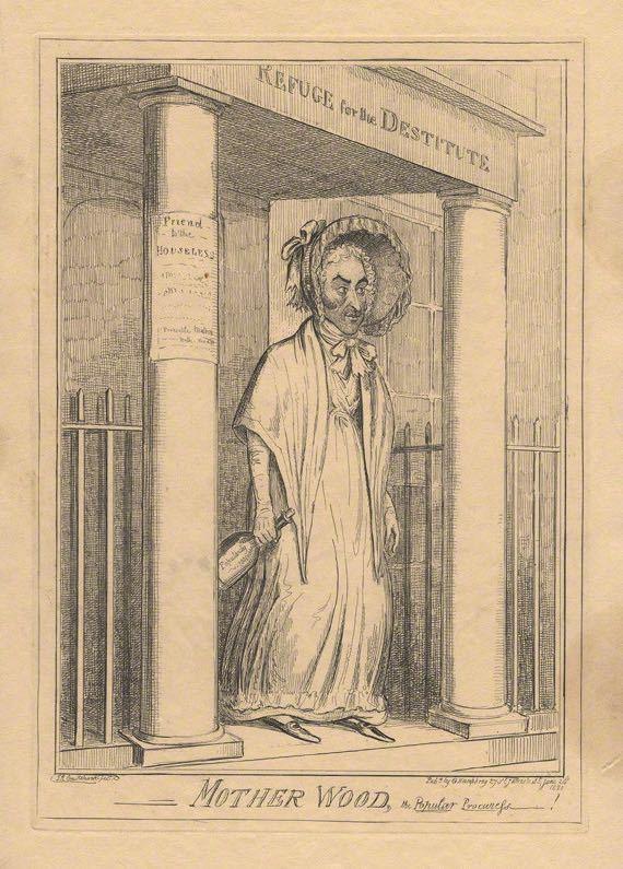 Madre Wood, la alcahueta popular, de Cruikshank (1820)
