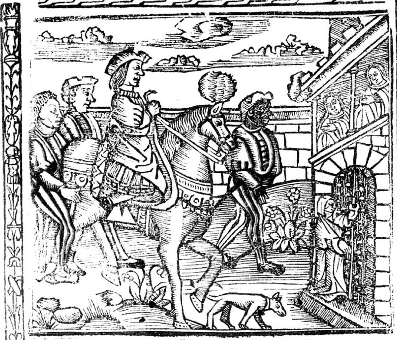 First illustration of the cover page of the Valencia edition (1529)