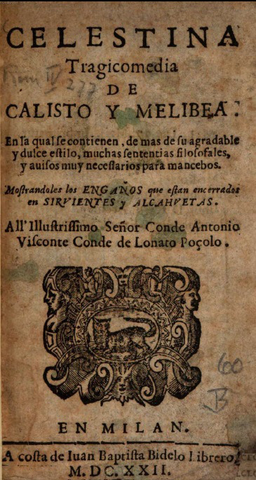 Cover of the Milan edition, 1622.