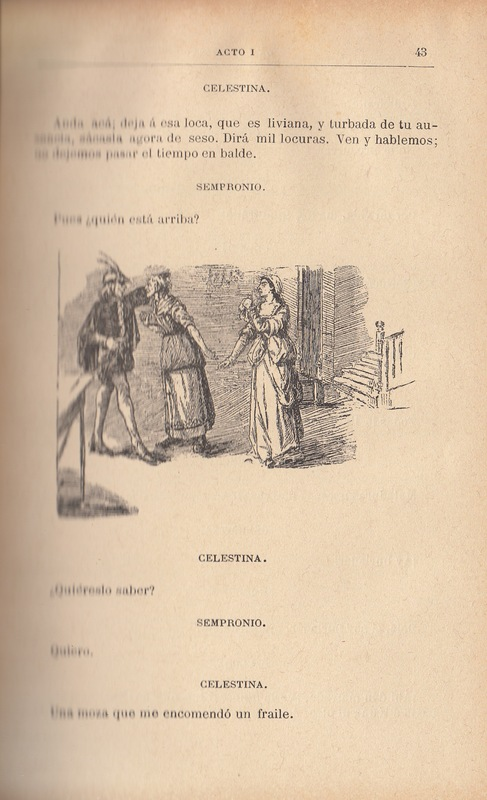 Second illustration of act I from the Barcelona edition (1883)