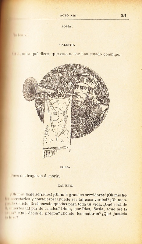 First illustration of act XIII from the Barcelona edition (1883)