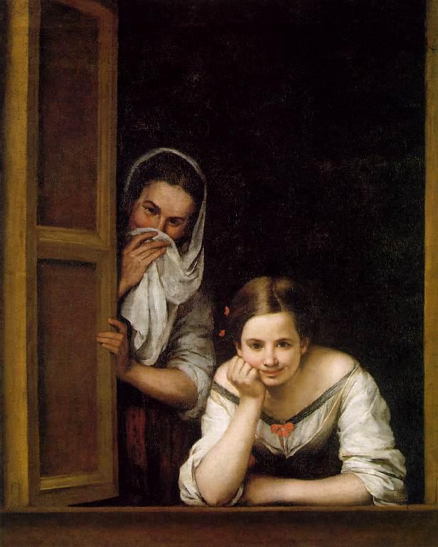 <br /> <br /> Women in the window (Mujeres en la ventana), by Murillo (1675)<br /> <br />