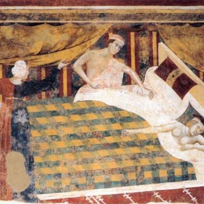 Erotic scenes, by Filippuccio (1310, c.)