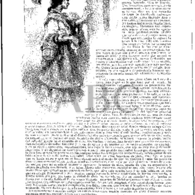 Illustration of Celestina in the comedy Eufemia, by Lope de Rueda, in the magazine Blanco y Negro (1906)