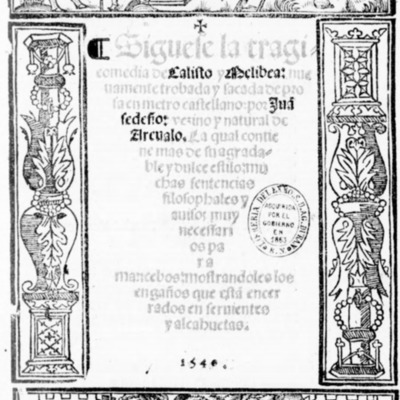 Cover of the  Salamanca edition, 1540