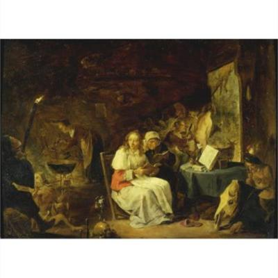 Incantation Scene, by Teniers II (1650, c.)