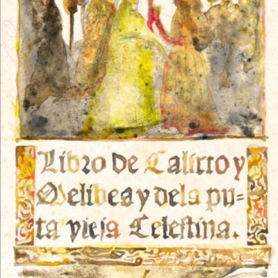 Cover in watercolor of La Celestina, de Acedo (2011 c.)