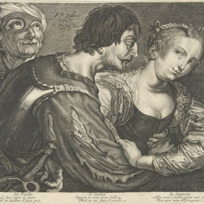 The marriage maker, by van Persijn (1645 c.)