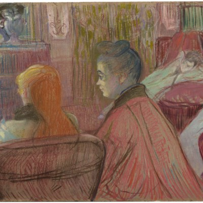 In the Salon, by Toulouse-Lautrec (1893)